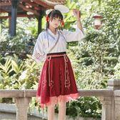 古裝漢服漢服女寫真交領襦裙日常漢元素古風中國風民族 茱莉亞嚴選