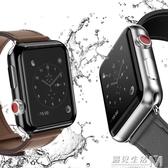蘋果手錶保護殼電鍍透明Apple Watch S3通用2保護套38tpu全包42mm  遇見生活