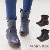 STAR SHOES-經典英系單扣環工程短靴