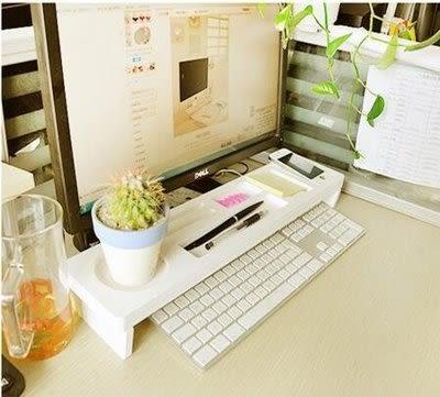 多功能鍵盤架 辦公桌面收納架 隔板置物防水 環保【潮咖範兒】