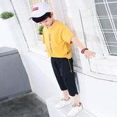 童裝男童運動褲兒童針織短褲2018夏季新款中大童七分褲