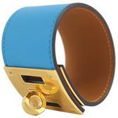 Hermes Kelly dog B3 Bleu Zanzibar 寬版轉釦手環 尚西巴島藍/全新品