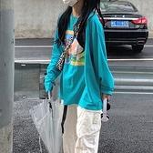 長袖上衣 網紅長袖衛衣女韓版寬鬆bf慵懶風上衣春秋薄款2021新款外套潮ins 童趣屋  新品