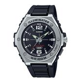 CASIO 卡西歐 手錶 專賣店 MWA-100H-1A 男錶 橡膠錶帶 黑色 防水100米 LED照明 MWA-100H