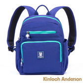 【金安德森】極簡耀色 防潑水多功能夾層小款後背包-亮麗藍綠