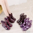 雨靴四季時尚雨鞋女士成人雨靴糖果風短筒水鞋女加絨保暖防滑防水靴交換禮物