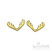威世登 黃金鹿角貼耳式耳環(矽膠耳束) 金重約0.27~0.29錢 GF00392-EEX-FIX