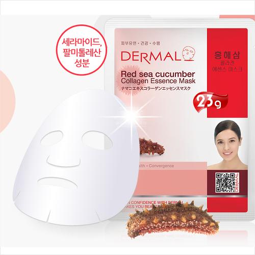 【韓國原裝進口】DERMAL紅海參緊緻柔嫩面膜(1入) [51858]便宜又好用