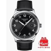 ◆TISSOT◆ GENT XL CLASSIC簡約大三針石英腕錶T116.410.16.057.00 黑