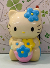 【震撼精品百貨】Hello Kitty 凱蒂貓~三麗鷗 KITTY拉繩玩偶-藍*15791