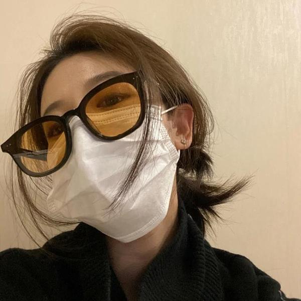 吳亦凡同款墨鏡男潮街拍時尚網紅橙黃色太陽鏡女2021眼鏡 韓美e站