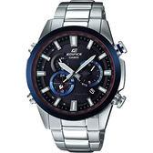 【CASIO 卡西歐】EDIFICE 太陽能電波賽車錶-藍圈 EQW-T640YDB-1A2DR