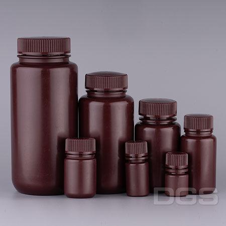 塑膠廣口試劑瓶 茶色 PP Bottle, Wide-Mouth, Amber, PP