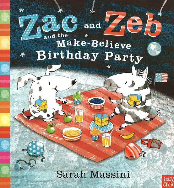【麥克書店】ZAC AND ZEB AND THE MAKE-BELIEVE BIRTHDAY PARTY /英文繪本《主題: 友誼》內附QR code