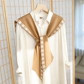 韓國針織小披肩外搭毛線春秋冬季網紅女斗篷搭肩時尚洋氣高端圍巾 范思蓮恩