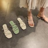 促銷全場九折 拖鞋女外穿仙女風新款夏季網紅百搭女鞋時尚水鉆平底羅馬鞋潮