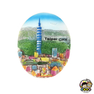 【收藏天地】立體手繪冰箱貼*台北  ∕冰箱貼 立體手感 送禮 旅遊紀念