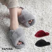 毛拖鞋.軟綿綿保暖平底拖鞋【KY1641】黑/灰/紅