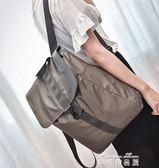大容量男背包書包旅行防水尼龍牛津布雙肩包女韓版輕便帆布學院風   麥琪精品屋