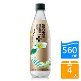 More+氣泡水奇異果風味560ML x4【愛買】