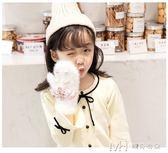 兒童手套女冬加絨加厚甜美可愛小學生韓版日繫保暖手套女童公主    瑪奇哈朵