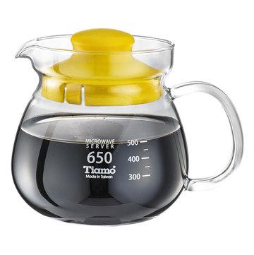 金時代書香咖啡 C'afeDeTiamo 圓滿咖啡玻璃壺花茶壺 650cc SGS測試合格 HG2202Y