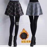 加絨加厚假兩件打底褲女冬季新款外穿顯瘦高腰連身連褲裙半身裙褲 設計師生活百貨