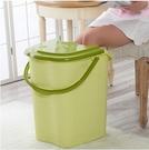 綠色泡腳桶帶蓋塑料加大加高洗腳桶家用足浴...