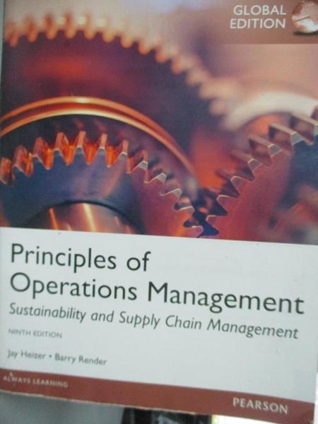 【書寶二手書T7/大學商學_YDQ】Principles Of Operations Management9/e_Jay