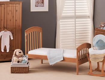 Leicester  Cot Bed 萊斯特大床(商品不含床墊)-原木/白色
