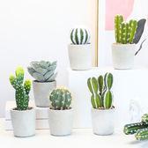 全館83折 北歐ins仿真植物假仙人掌柱綠植小盆栽擺件擺設室內客廳盆景裝飾
