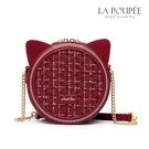 側背包 金絲呢料可愛貓耳朵小圓包 2色-La Poupee樂芙比質感包飾 (現貨+預購)