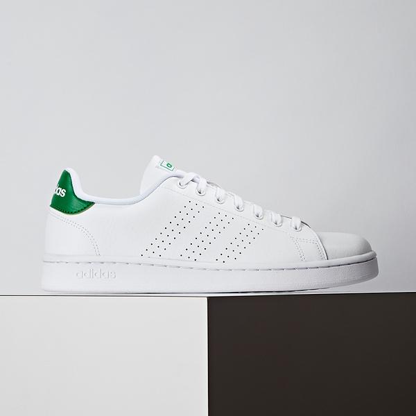 Adidas Advantage 男款 白綠 經典 復古 休閒鞋 F36424