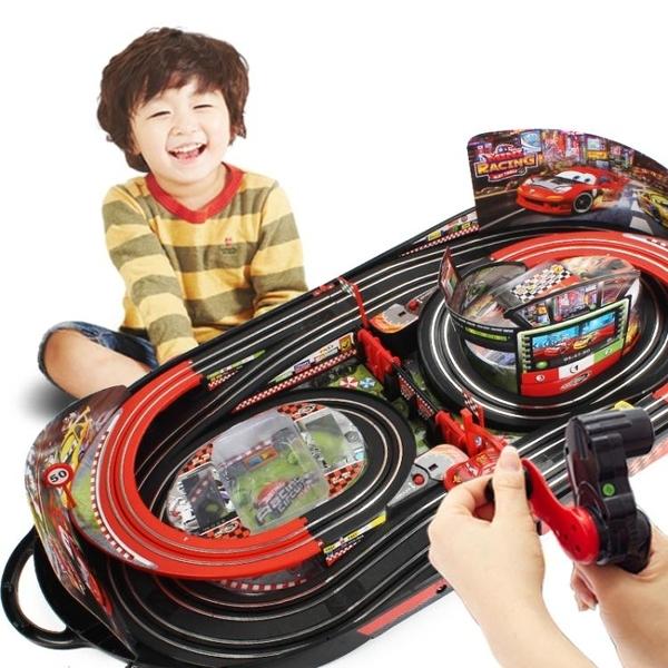軌道賽車玩具電動遙控兒童男孩雙人手搖賽道小汽車套裝總動員麥昆【全館免運】