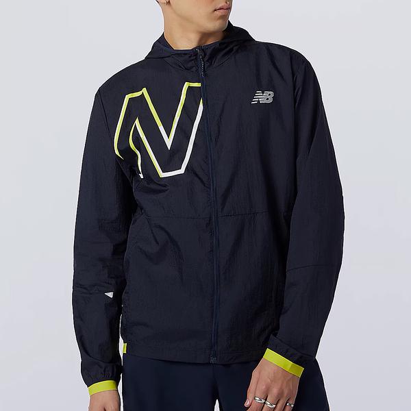 New Balance Impact Run Light 男裝 外套 連帽 可收納 黑【運動世界】MJ01238SYE