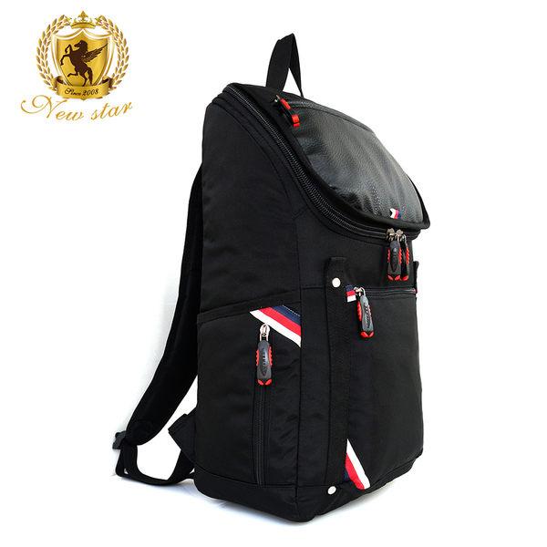英倫風防水配皮大容量後背包包  NEW STAR BK235