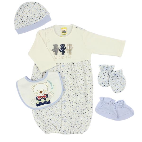 【愛的世界】純棉長袖兩用嬰衣禮盒/3~6M-台灣製- ---禮盒推薦