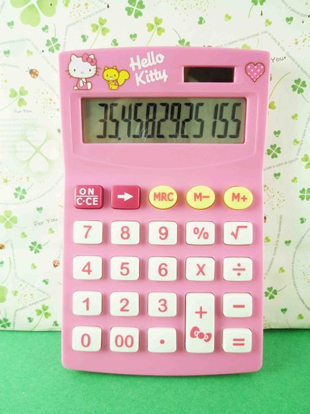【震撼精品百貨】Hello Kitty 凱蒂貓~計算機-桃粉色殼