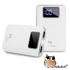【貓頭鷹】12000++ LED數位顯示 隨身行動電源白色