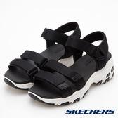 SKECHERS 女鞋 時尚休閒系列 DLITES 涼鞋 韓風厚底 - 黑 31514BLK