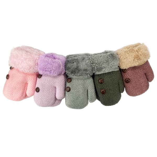 彼得兔/比得兔 全包式兒童毛口雙層手套(顏色隨機出貨)GL144[衛立兒生活館]