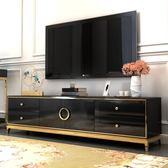 電視櫃 現代輕奢不銹鋼電視柜簡約現代客廳新古典地柜小戶型儲物柜整裝igo       琉璃美衣