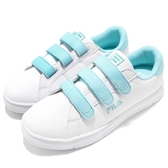 Fila 魔鬼氈 休閒鞋 白 藍 麂皮後跟 小白鞋 韓系 女鞋 運動鞋 【PUMP306】 5C321S133
