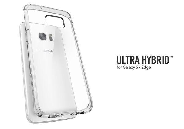 【贈9H玻璃保貼】Spigen 韓國 SGP Samsung Galaxy S7 edge Ultra Hybrid 透明背蓋 邊框保護殼 手機殼