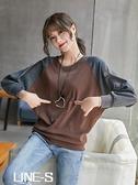 秋冬裝新款純棉打底衫長袖上衣加大碼女裝200斤圓領寬鬆蝙蝠衫t恤