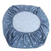 床笠單件席夢思床罩保護套1.2兒童卡通1.5m1.8米薄款棕墊床套純白 挪威森林