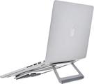 [2美國直購] Amazon Basics 鋁製可攜式折疊筆電支架,適用於最大 15 吋的筆記型電腦,銀色