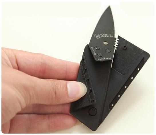 【卡片摺疊刀】露營戶外 隨身攜帶超薄式工具刀 名片刀 折疊刀 信用卡片刀 瑞士刀 美工刀