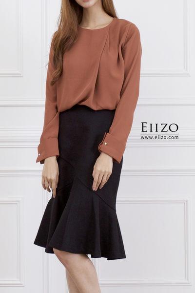 【EIIZO】知性簡單魚尾及膝裙(黑)
