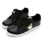 DISNEY 簡約率性 米奇緞帶休閒鞋-白黑-DW5635C5